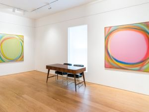 Installation view, Dan Christensen-Paintings 1970-1989 at Leslie Feely Gallery.