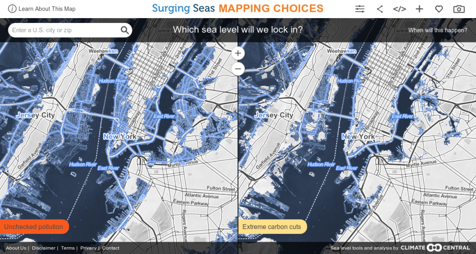Your Apartment Under Water: Climate Center Map Shows Rising Sea Levels in NYC