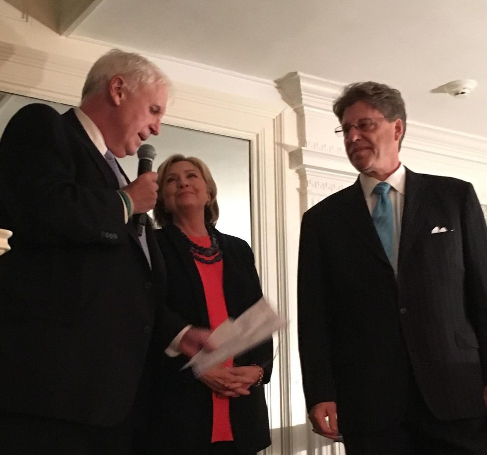 Clinton Fundraises in Morristown with Sellinger, North Jersey Dems