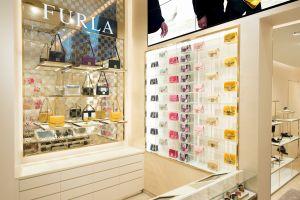 Handbags on display at Furla's flagship boutique (Photo: Courtesy Furla).