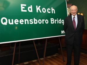 Ed Koch poses during the renaming of the Queensboro Bridge in his honor at The Water Club Restaurant on May 19, 2011 in New York City. (Photo by JP Yim/Getty Images)