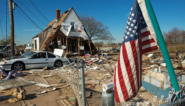 The Oakwood Beach area of Staten Island, seen after Hurricane Sandy.