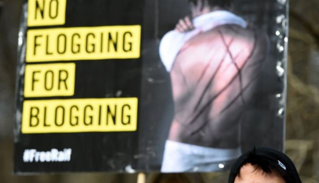 The Saudi judiciary issued a public flogging punishment for liberal blogger Raif Badawi last January. (TOBIAS SCHWARZ/AFP/Getty Images)