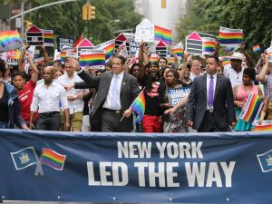 Gov. Andrew Cuomo in the 2015 New York City Gay Pride Parade.