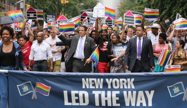 Gov. Andrew Cuomo in the 2015 New York City Gay Pride Parade.
