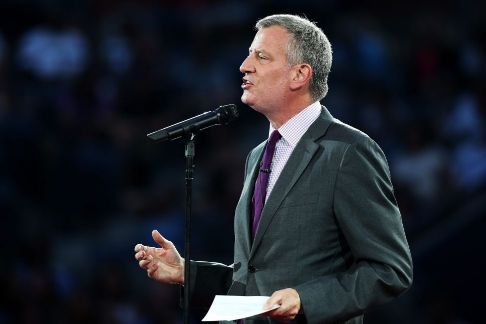 With Joaquin Headed Elsewhere, Bill de Blasio Is Going Back to Washington