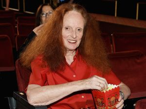 Grace Coddington doing her thing (Photo: Dimitrios Kambouris/Getty Images for Marc Jacobs).