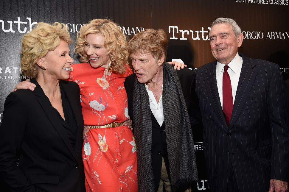 """Dan Rather Outshines Cate Blanchett, Robert Redford at """"Truth"""" Premiere"""