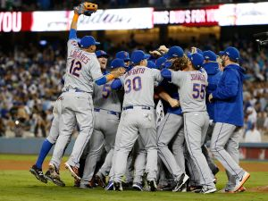The Mets triumphed over the Dodgers in the NLDS last night. (Photo: :Sean M. Haffey for Getty Images)