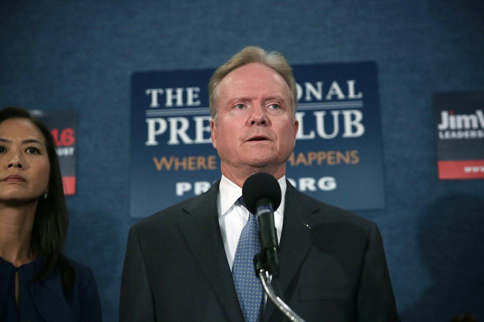 Jim Webb Says He's 'Seriously' Looking at a Third Party Run