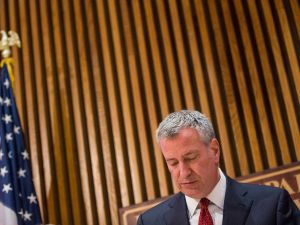 Mayor Bill de Blasio. (Photo: Andrew Burton for Getty Images)