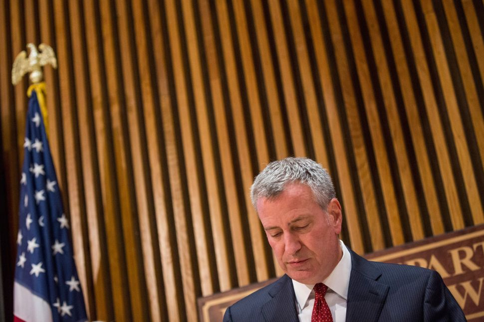 Bill de Blasio's Job Approval Rating Keeps Going Down