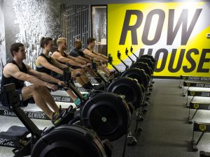 A class at Row House, a fast-growing group rowing studio. (Photo: Tyler Indyck)