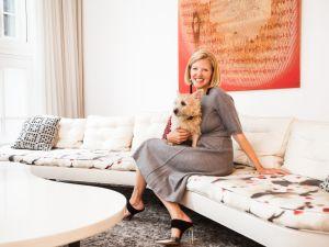 Lela Rose in her Tribeca home. (Photo: Emily Assiran for Observer)