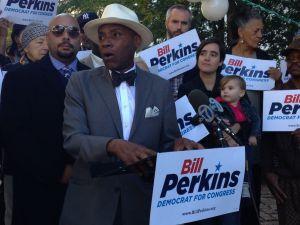 State Senator Bill Perkins at his campaign kickoff