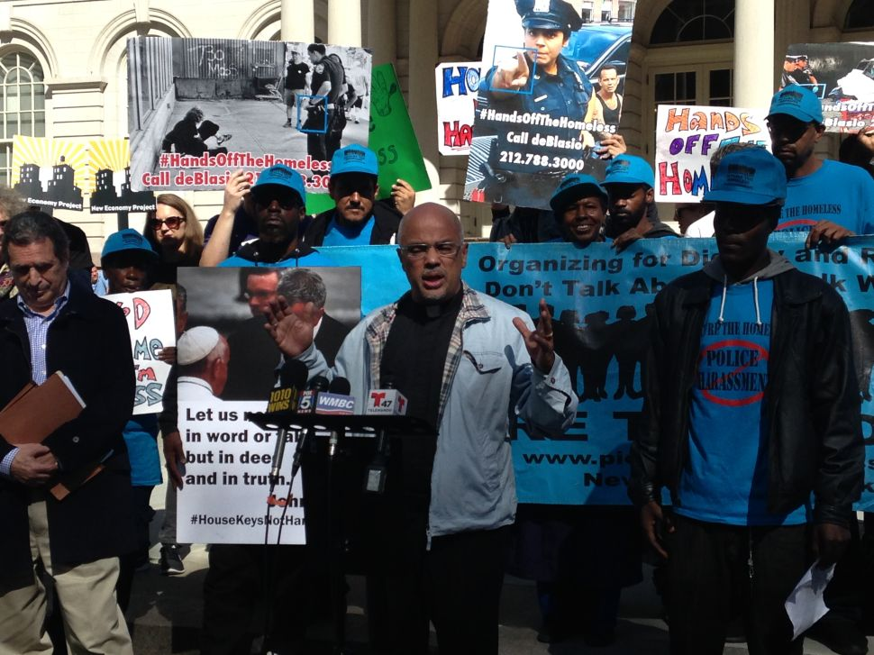 Homeless Advocates Rail Against 'Gangster' Bratton and 'Gang of Thugs' NYPD