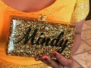 Mindy Kaling shared a photo of her customized clutch on Instagram. (Photo: Instagram/Mindy Kaling)