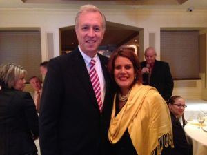 Assemblyman John Wisniewski and Mayor Wilda Diaa at her October fundraiser.