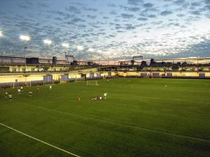 A Pier 40 playing field. (Hudson River Park Trust.)
