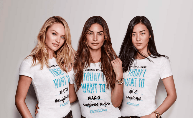 Michael Kors Is Fighting World Hunger With Victoria's Secret Models