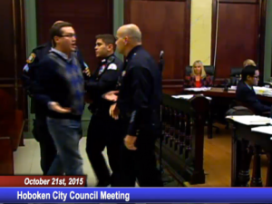 David Lieber was one of two Hoboken residents ejected from the city council meeting after mentioning Grossbard.