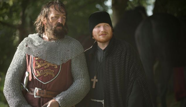 """Thorns/Drain"" Episode 6 (Airs Tuesday, October 13, 10:00 pm/ep) Pictured: (l-r) Francis Magee as Absolon, Ed Sheeran as Cormac. CR: Ollie Upton/FX"