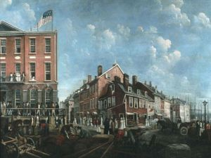 Francis Guy's painting of Tontine Coffee House (Wall Street), 1797. (Photo: Wikimedia Commons)