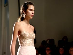 Brideside's new exclusive collection on the Bridal Fashion Week runway this morning. (Photo: Brideside)