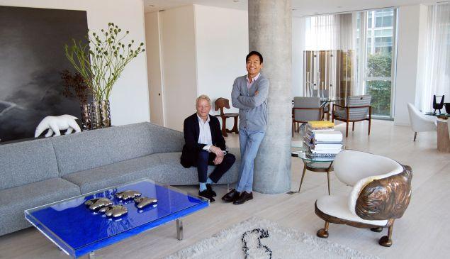 George Yabu and Glenn Pushelberg at home (Photo:).