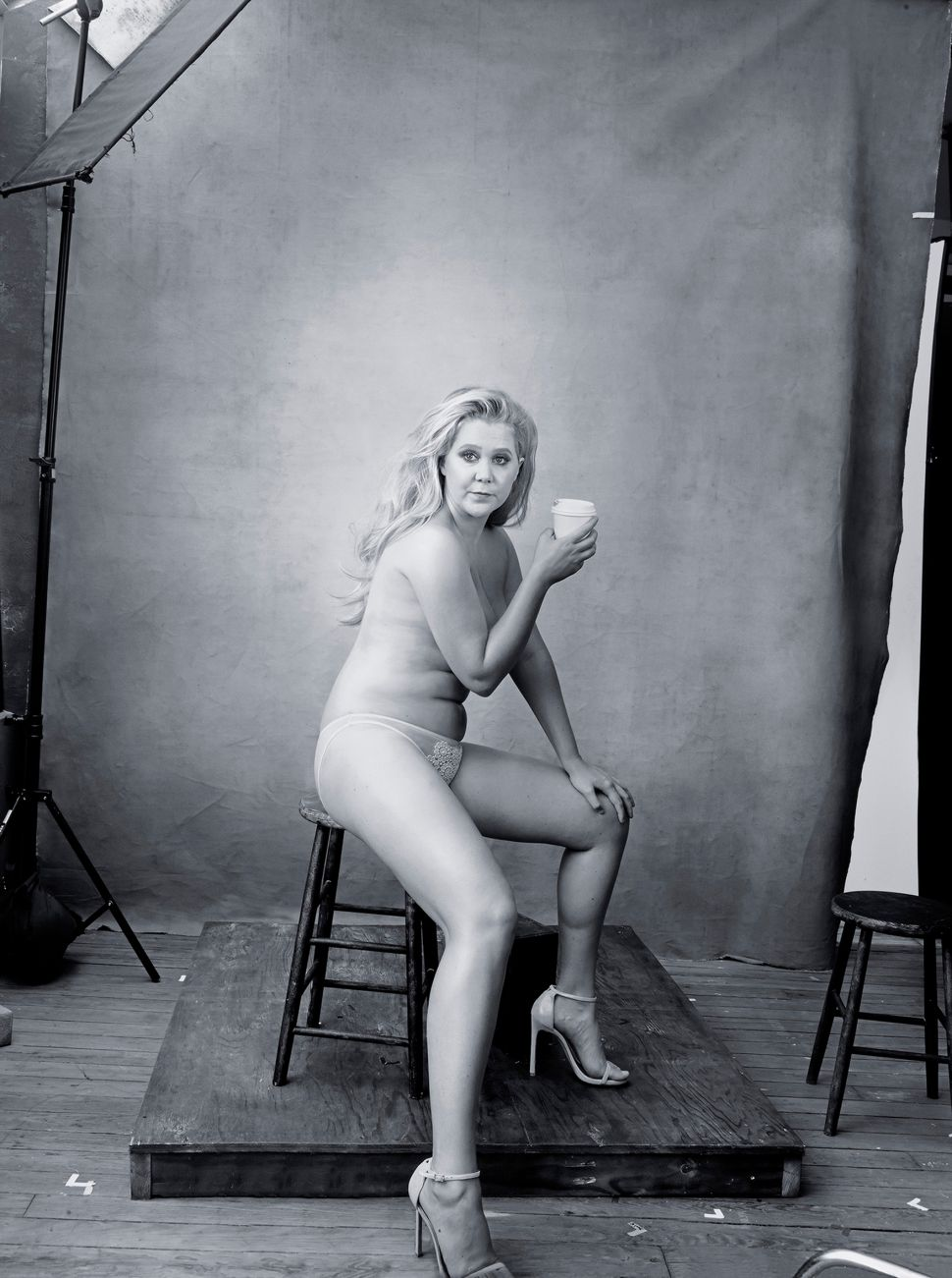 Amy Schumer Goes Topless for the 2016 Pirelli Calendar