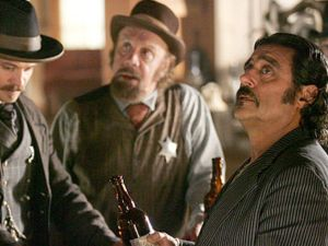 Old-timey mixologists gentrifying Brooklyn on Deadwood</em. (HBO)