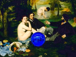 Detail from Gazing Ball: Manet Luncheon on the Grass (Courtesy Gagosian Gallery)