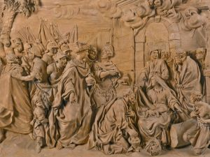 Girolamo Ticciati (1671-1744) Italian, Florence, first half 18th century RELIEF WITH THE ADORATION OF THE MAGI. Est. $107,429-153,470.