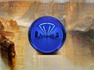 Jeff Koons, detail of Gazing Ball (Turner Ancient Rome), 2015.