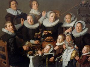 Andries van Bochoven Portrait of the painter Andries van Bochoven and his family 1629