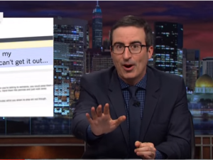 Thanks to John Oliver, you'll never look at pennies, or Reddit, the same way again. (Photo: Screenshot)