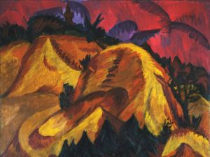 Ernst Ludwig Kirchner, Sand Hills in Engadin, (1917-18). (Photo: MoMA)