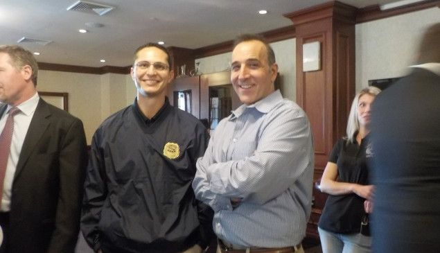 Assemblyman Joe Lagana (left) and Paramus Councilman Pat Verile.