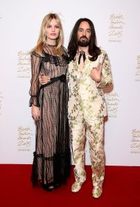 Presenter Georgia May Jagger with Alessandro Michele winner of International Designer for Gucci (Photo: Mike Marsland, British Fashion Council)