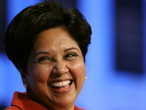 PepsiCo Chairman and CEO Indra Nooyi at the World Economic Forum (FABRICE COFFRINI/AFP/Getty Images)