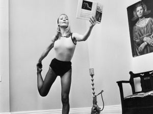 5th December 1974: Kristine Sparkle doing yoga at her home. (Photo by Reg Burkett/Express/Getty Images)
