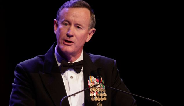 NEW YORK, NY - DECEMBER 11: Admiral William H. McRaven attends 52nd USO Armed Forces Gala & Gold Medal Dinner at Marriott Marquis Times Square on December 11, 2013 in New York City. (Photo by Thos Robinson/Getty Images for USO of Metropolitan New York)