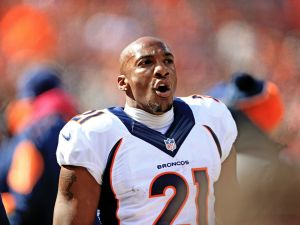 Cornerback Aqib Talib of the Denver Broncos deserves arrest for his poking the eye of an opponent (Photo by Andrew Weber/Getty Images)