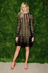 Devon Windsor in Monse and Paul Andrew (Photo by Andrew Toth/Getty Images)