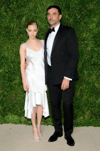 Amanda Seyfried in Givenchy with Riccardo Tisci (Photo by Andrew Toth/Getty Images)