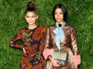 Zendaya in Thakoon and Aurora James of Brother Vellies (Photo: Getty Images).