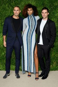 Scott Studenberg, Imaan Hammam in Baja East and John Targon (Photo by Andrew Toth/Getty Images).