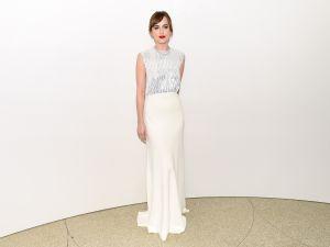 Dakota Johnson in Dior Couture (Photo: Getty Images).