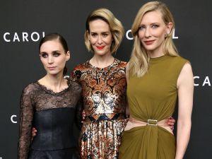 Rooney Mara, Sarah Paulson, Cate Blanchett (Photo: Getty Images).