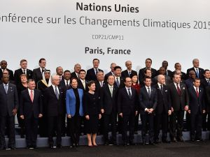 PARIS, FRANCE - NOVEMBER 30: World leaders pose during the family photo session of the Cop 21 on November 30, 2015 in Paris, France. World leaders are meeting in Paris for the start of COP21, the two-week UN climate change summit, attempting to agree on an international deal to curb greenhouse gas emissions. (Photo by Pascal Le Segretain/Getty Images)